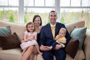 Jason Vallozzi with his wife and kids in Pittsburgh
