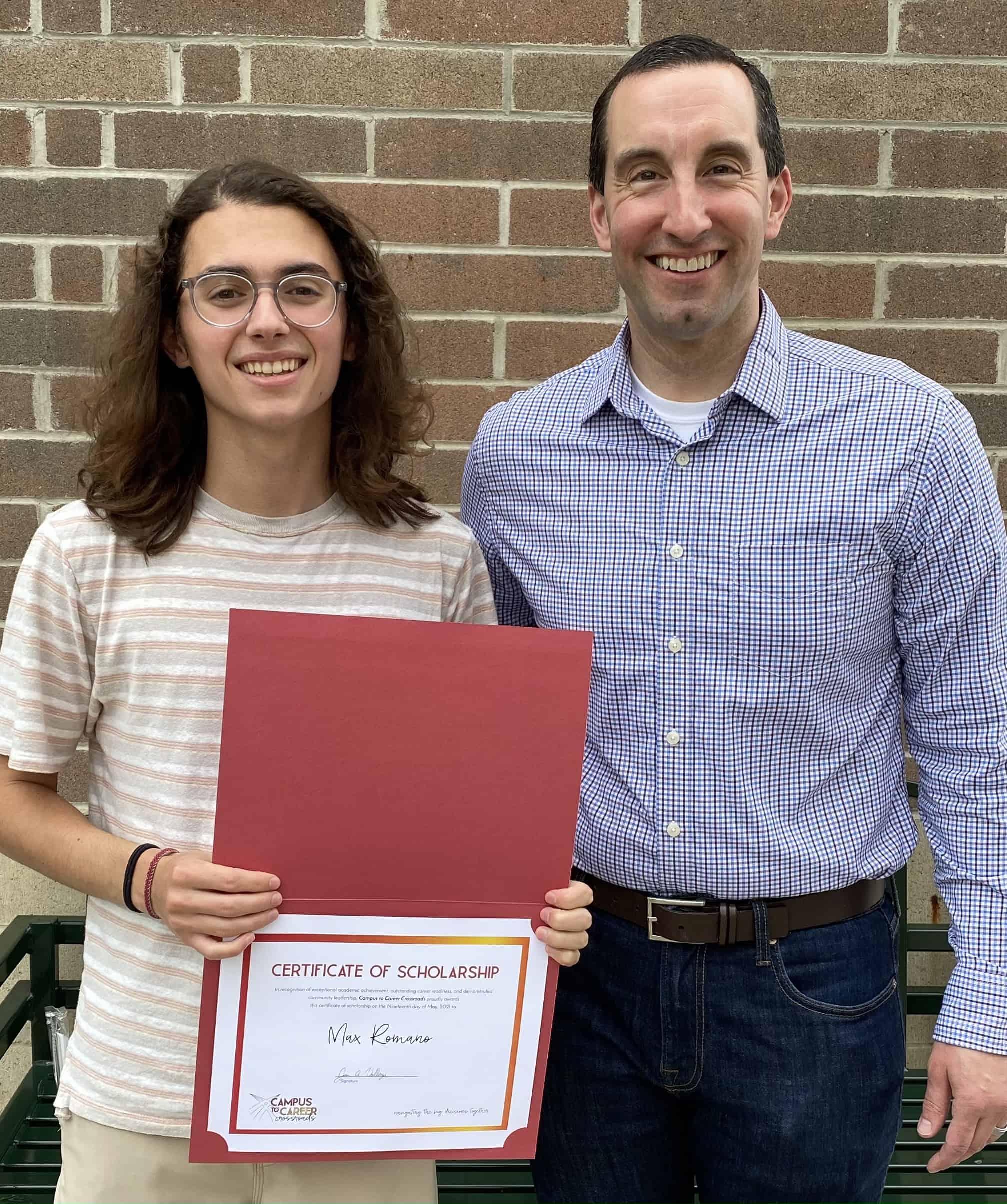 2021 Scholarship Winner - Max