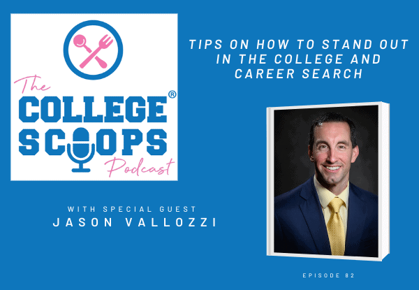 Podcasting with College Scoops about college admissions and career launching