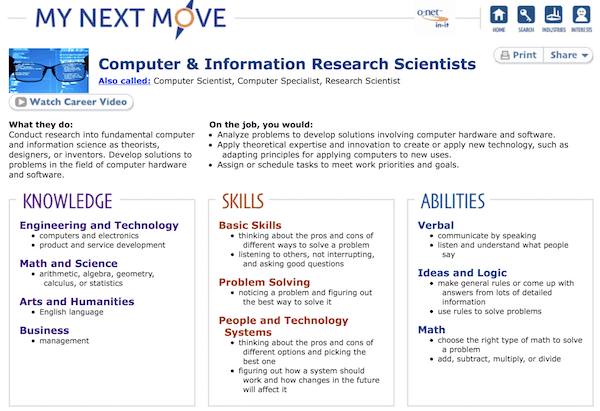 Check out Some of Helpful Info Found at mynextmove.org